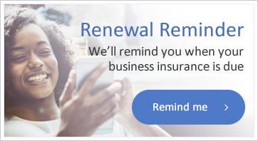 Business insurance renewal reminder